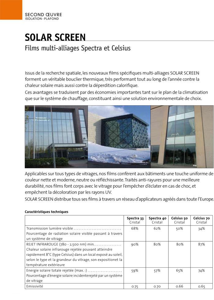 Films solaires d'isolation thermique pour second œuvre et économie d'énergie