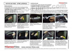 kit de pose, outils et matériel de pose de film sur vitrage voiture